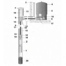 Комплект водоснабжения для скважины №5 (50м)